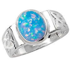 Solitäre Echte Edelstein-Ringe aus Sterlingsilber mit Opal