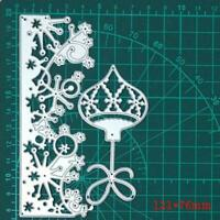 1PC Christmas Lantern Lace Frame Cutting Mold DIY Scrapbook NEW Embossing W8C1