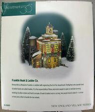 Franklin Hook and Ladder Co. New England Series Dept. 56