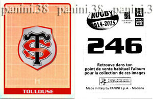 """RARE !! TOULOUSE Sticker n°246 """"RUGBY 2014-2015"""" Panini"""
