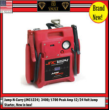 Jump-N-Carry (JNC1224)  3400/1700 Peak Amp 12/24 Volt Jump Starter, New in box!