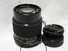 MINOLTA MD  135 mm f 3.5 LENS with caps  AS IS  SN8014866