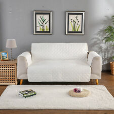 White Color 3 Seater Furniture Shield Couch Slipcover Sofa Cover Protector