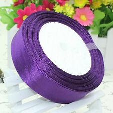 Satin Ribbon Choose From Different Size & Colors 10 Mtrs Rolls Buy 4 &get 1 6mm Purple