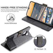 For Nokia 5.3 /6.2 /7.2 Unique Flip Canvas Leather Wallet Stand Soft Case Cover