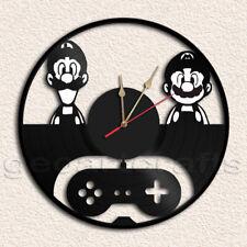 Mario & Luigi Wall Clock Vinyl Record Clock Handmade