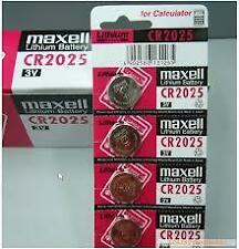 CR2025 Maxell Battery 5 pieces. 3V Lithium Button Coin Cell Made In Japan