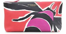 NWT BURBERRY PRORSUM INSECT BERRY/TULIP PINK LEATHER CLUTCH HANDBAG $1450