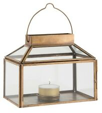 Brass / Glass Lantern Tealight Candle Holder Danish Design by Ib Laursen