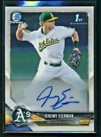 2018 Bowman Chrome JEREMY EIERMAN Autograph Rookie #CDA-JE Oakland Athletics RC
