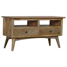 Mango Solid Wood Timber Media Unit TV Stand | 2 Drawers & 2 Shelves | Hand Made