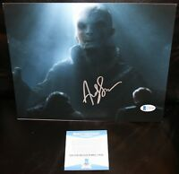 Andy Serkis THE FORCE AWAKENS Snoke Signed 8x10 Photo STAR WARS Beckett PSA JSA