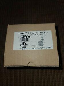 "WAC Lighting LTK-774-AB Radiant Line Voltage 7.75"" Wide 1 Light Track Head (1F)"