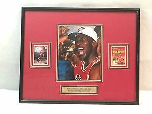 Michael Jordan 3 Time Champs Chicago Bulls 1991 92 93 Framed Picture Art 21 x 17