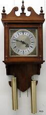Hamilton Wall Quartz Clock Decorative Weights Roman Numeral Face Battery Operate