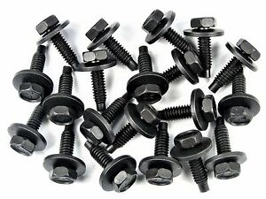 """Buick Body Bolts- 1/4-20 x 15/16"""" Long- 7/16"""" Hex- 3/4"""" Washer- 20 bolts- #174"""