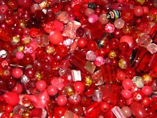 NEW 4/oz Cranberry RED, Ruby, Scarlet MIXTURE RANDOM Pick LOT LOOSE BEADS 6-15mm