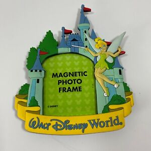 Walt Disney World Tinkerbell Magnetic Photo Frame Castle Souvenir Picture
