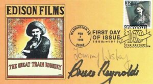 Bruce REYNOLDS & Tommy WISBEY Great Train ROBBERY SIGNED FDC 1 AFTAL COA