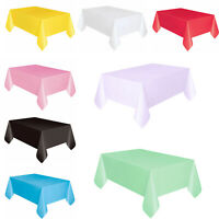 Plastic Tablecovers Table Cloth Cover Party Events Catering Tableware 11 COLOURS