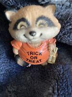 Vintage Shirt Tales Halloween Raccoon 1983 Hallmark Merry Miniatures Mini PVC