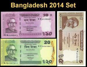 BANGLADESH 2014 SET 🌎💴 UNCIRCULATED 🕌 3 Different Notes🕌