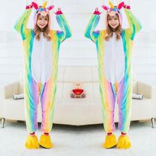 New Unisex Adult Pajamas Unicorn Kigurumi Cosplay Costume Animal Sleepwear Xmas