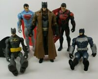 Mixed lot of DC Comics Superman and Batman Action Figures Capes Collection