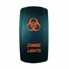 12V 20A ROCKER SWITCH ZOMBIE ORANGE LASER LED UTV BOAT TRUCK