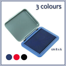 Stamp Pad Ink ,for Rubber Stamps Fabric Wood Paper Art Craft  BLACK,  BLUE , RED