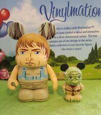 "DISNEY Vinylmation 3"" Park Set Star Wars Luke Skywalker Dagobah Yoda Jr"