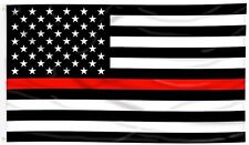 Thin Red Line Grommet Flag Firefighter Patriotic 3' x 5' Briarwood Lane