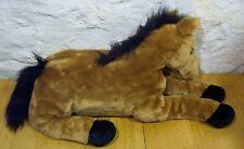 "LARGE BROWN & BLACK SOFT HORSE 23"" Plush Stuffed Animal"