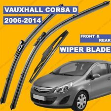 Front and Rear Wiper Blade Set For Vauxhall Corsa D 06-15 56 57 till 65 reg