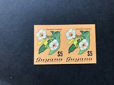 Guyana Flowers/Orchids $5 pair imperf mint