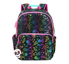 NWT Disney Store Coco Backpack Skull Book Bag Metallic Guitar Flower Miguel