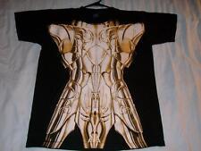 Saint Seiya Gold Armor Anime Cos Play Costume Black 2-sided T-shirt Boy's Large