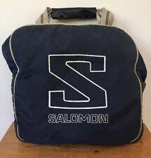 Vtg Salomon Navy Blue Winter Sports Ski Bag Backpack Daypack Adjustable Straps