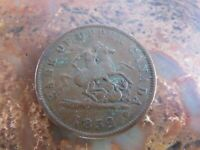 1852 Canada BANK OF UPPER CANADA One Penny Bank Token RP24