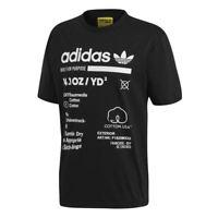 Adidas Originals KAVAL GRP TEE t-shirt uomo mezza manica bianca e nero stampa