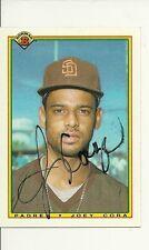 JOEY CORA SAN DIEGO PADRES SIGNED AUTO 1990 TOPPS CARD #211 W/COA
