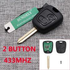 2B Remote Key FOB 433MHz ID46 for Citroen Saxo,Picasso,Xsara,Berlingo -Uncut SX9