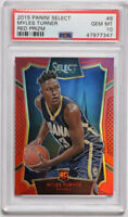 2015-16 Panini Select Myles Turner Red Prizm /149 Rookie RC #8 PSA 10