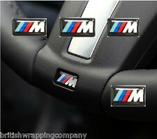 5 x M Tech / M Tec BMW M Sport Gel Sticker Emblem Badge 5 Series F20 F10 E60
