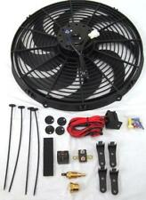 """16"""" Inch Electric Radiator Fan High 3000+ CFM + Thermostat Wiring Relay Kit 210°"""