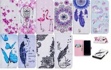 Magnetic 3D Gloss Flip Wallet Card Slot PU Leather Stand Case Cover For iPhone