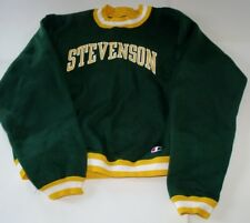 Vintage 60's 70's Champion Green Nylon Pullover Sweatshirt Sz XXL USA