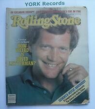 ROLLING STONE MAGAZINE - Issue 371 June 10th 1982 - David Letterman / Conan