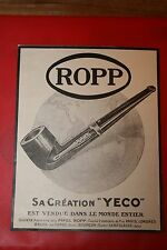 PUBLICITE ANCIENNE 1920 PIPE ROPP YECO st claude Jura FRENCH AD PUB