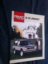 1988 GMC S15 Jimmy Color Brochure Catalog Prospekt
